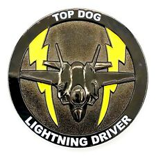 USAF 61st Fighter Squadron Top Dog F-35A Lighting II Driver Challenge Coin!