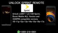 Permanent Unlock Service LG V20 LS997 8.0 & 7.0 Sprint Boost 20A X220PM