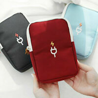 Travel Digital Zipper Storage Bag Data Cable Charger Cord Pouch Power Bank Case