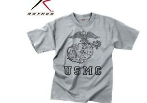 Vintage USMC Globe Anchor T-Shirt United States Marine Corps officially Licensed