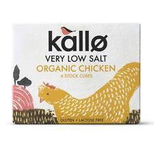 💚 6 x Kallo Organic Low Salt Chicken 6 Stock Cubes