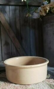 Vintage Robinson Roseville Crock Feeder Bowl Dog Cat Water Food Stoneware