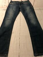 Daytrip BKE Women's Jeans Virgo Boot Cut Distressed Stretch Size 31 X 33