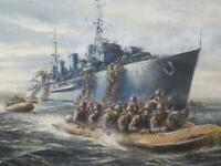 American Military Navy 1957 Vietnam? Superb Quality Oil