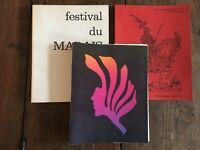 Programa Festival de La Swamp 1972 2 Vol. Respaldo Y Retro En Valor París