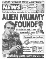 ALIEN MUMMY FOUND! & GHOSTLY HITCHHIKER! -- Weekly World News March 15, 1988