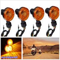 4 Pcs 12V Round Amber Motorcycle ATV Turn Signal Light Indicator Lamp Waterproof