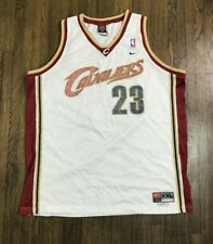 Cleveland Cavaliers #23 Lebron James White Nike Team Sport Jersey Men's 2XL +2