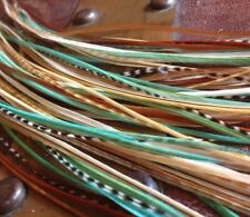 """*SALE* 30pcs. (Mint) Long 8""""-12"""" Feather Hair Extension, Whiting Hackle, DIY Kit"""