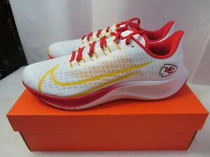 New NFL Kansas City Chiefs Nike Unisex Zoom Pegasus 37 Running Shoes Size 10.5