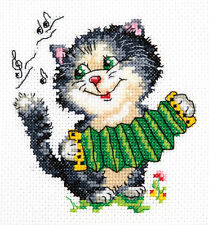 KIT Punto Croce musica (Cat) art. 18-34
