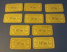 10 Old NUGGET CIGAR STORE Cardboard TOKENS - Weiser IDAHO - Shirley Mendenhall