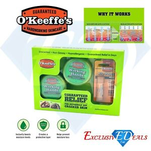 O'Keeffe's Skincare Working Hands Healthy Hand and Lip Repair MultiPack Gift Set