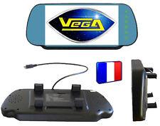 ► Rétroviseur écran intégré TFT LCD couleur 18 cm 2 entrées vidéo caméra recul ◄