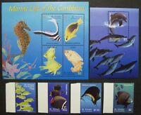 St. Vincent 2003 Fische Fishes Pesci Poissons Delphin 5933-5940 Block 623 MNH
