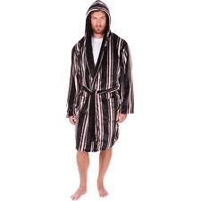 Hombre Bata Con Capucha Cuello Chal LUJO Pijama albornoz talla grande NUEVO