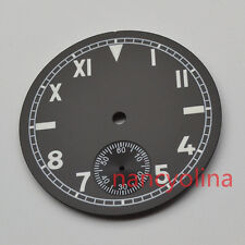 parnis 38.9mm black watch dial super green luminous fit 6498 seagull movement 64