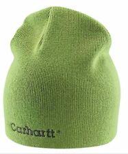 Carhartt Womens Rib Knit Beanie - Green Tea Ladies Solid Knit Hat