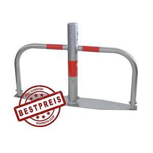 Parkplatzsperre Sonderpreis umlegbar mit Profilzylinderschloss Absperrpfosten