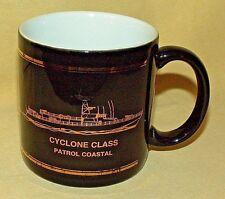 CYCLONE CLASS PATROL COASTAL BOAT MUG COFFEE TEA CUP BLACK GOLD SPERRY MARINE