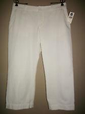 GAP Sz 12 White Capri Pants Cropped Modern FIt Sits Low on Waist 100% Cotton NWT