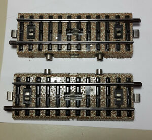 MARKLIN 5146 CONTACT SWITCH STRAIGHT x 2 ELECTRICALLY TESTED WORK PERFECTLY