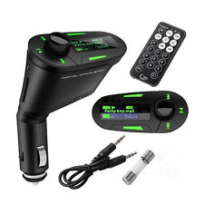 Green LCD Wireless FM Radio Transmitter USB SD Modulator MMC Remote for Most Car