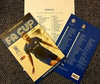 Chelsea v Liverpool FA CUP 5TH ROUND Programme with official teamsheet 3/3/20!!!