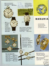 1959 PAPER AD 4 PG Rodania Wrist Watch Swiss Made Chronograph
