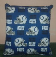 Colts Pillow NFL Pillow Indianapolis Colts Pillow Football Pillow HANDMADE USA
