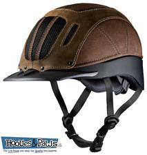 Troxel Sierra Brown Vented Safety Horse Western Low Profile Riding Helmet Medium
