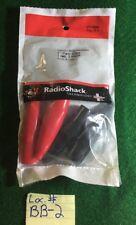 "Radioshack Heavy-Duty Insulated 2"" Claw Clips 2-red 2-black(270-0349)"