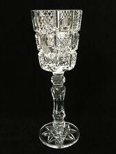 "Tyrone Cut Crystal Long Stem Vase, Rare Pattern, 12 3/4"" Tall x 4 1/4"" Diameter"