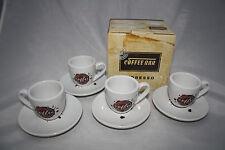 Coffee Spot 8-tlg. Espresso Set Könitz Porzellan 4 Tassen + 4 Untertassen NEU