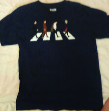 Doctor Who Mens T-Shirt Large BBC Abbey Road Beatles 100% cotton