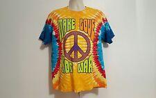 2009 hacer el amor no la guerra hippiefest adulto medio Tie Dye Camiseta ba655876e1f