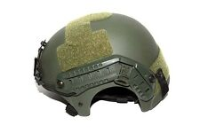 Airsoft IBH Helmet (5mm thickness) with NVG Mount and side Rail Color OD