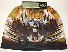 HD Sublimation Biker Eagle Wings Motor Stocking Hat Cap Beanie Fleece Lined