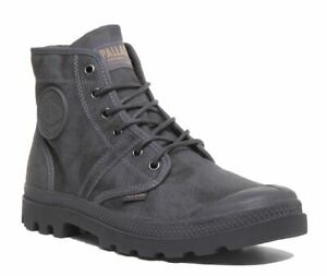 Palladium Pallabrouse Wax In Grey A-Lace Up Pallabrous Boot Size UK 3 - 12