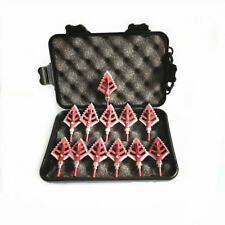 """12pcs Hunting Broadheads 100grain 1.75"""" Cut 1 Case for Compound Bow Crossbow"""