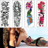 New Full Arm Peacock Fish Tattoo Temporary Stickers Body Art 3D Tatoo Waterproof
