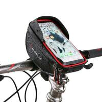 WHEEL UP Waterproof Bike Handlebar Bag Bicycle Front Tube Frame Phone Holder