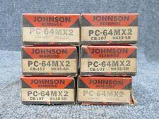 Vintage Johnson Engine Bearings PC-64MX2 / CB-107 / 9835-SB (Set of 6)