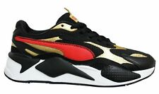 Puma RS-X3 CNY Black Red Gold Low Lace Up Mens Running Trainers 373178 02