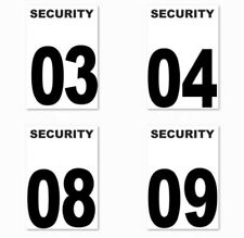 Security Guard Number. Crowd Control number tag ID. Numbers 1 to 50