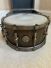"""HHG Drums 14"""" X 7"""" Black Oak Stave Snare Drum With Matching Wood Hoops"""