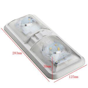 Double Dome Ceiling Light For RV Boat for Camper Trailer Truck Boat LED Light