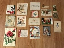 Lot of Vintage Greeting Cards and Post Cards Usa and Germany Used Except for 4