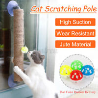 Cat Tree Kitty Play Condo Scratching Post Bell Sisal Scratcher w/Suction