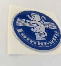 1 x 50mm LAMBRETTA LION BLUE RESIN 3D BADGE . ULMA FALBO SUPER VIGANO MOD 2inch
